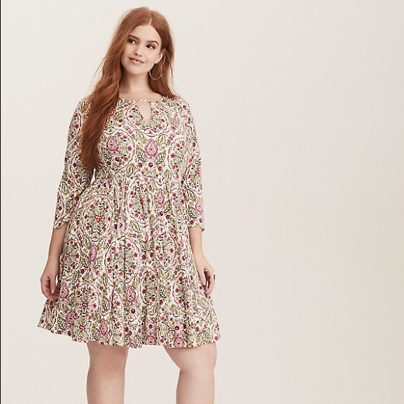 torrid Dresses | Plus Size Floral Dress Long Sleeve Spring | Poshmark